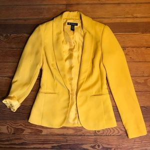 I.N.C. Gold / Yellow Fitted Blazer XS